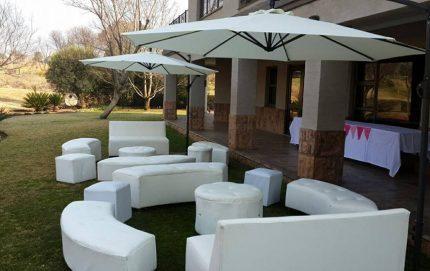 Ottoman hire, event furniture hire, event hire